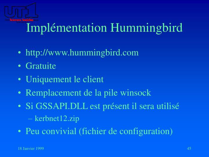 Implémentation Hummingbird