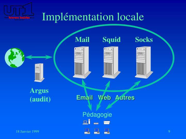 Implémentation locale