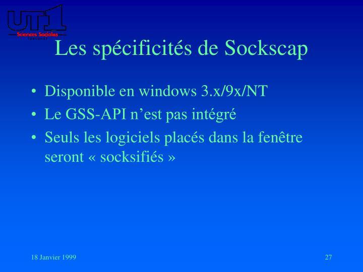 Les spécificités de Sockscap