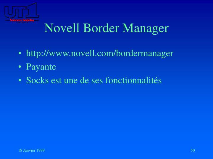 Novell Border Manager