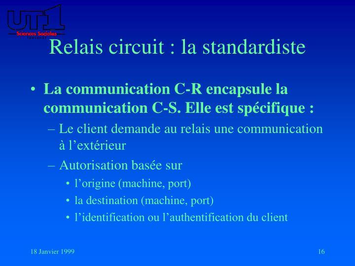 Relais circuit : la standardiste