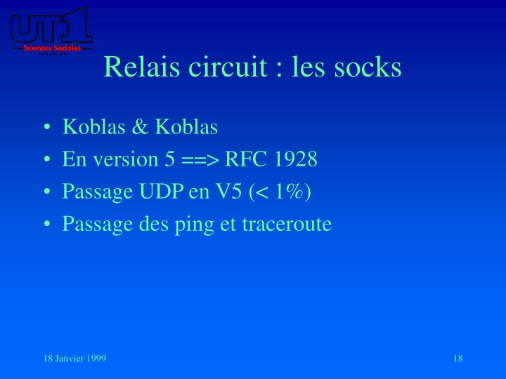 Relais circuit : les socks