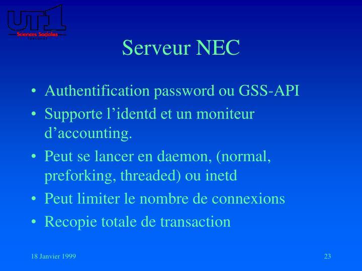 Serveur NEC