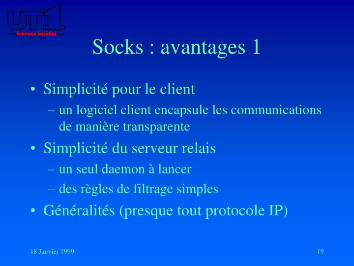 Socks : avantages 1