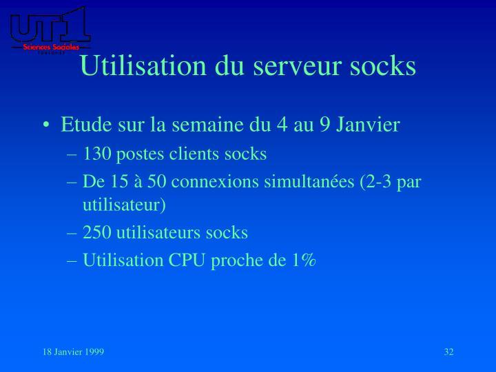 Utilisation du serveur socks