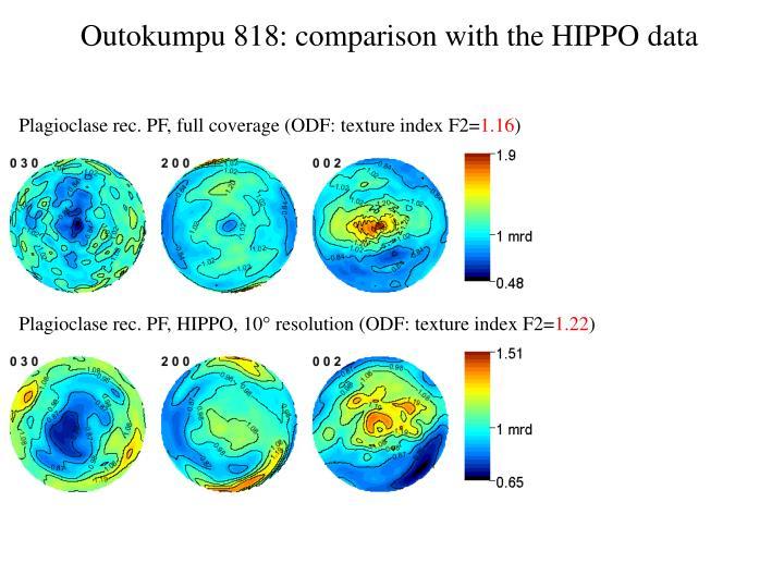 Outokumpu 818: comparison with the HIPPO data
