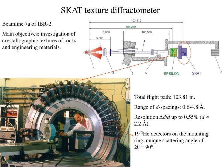 SKAT texture diffractometer