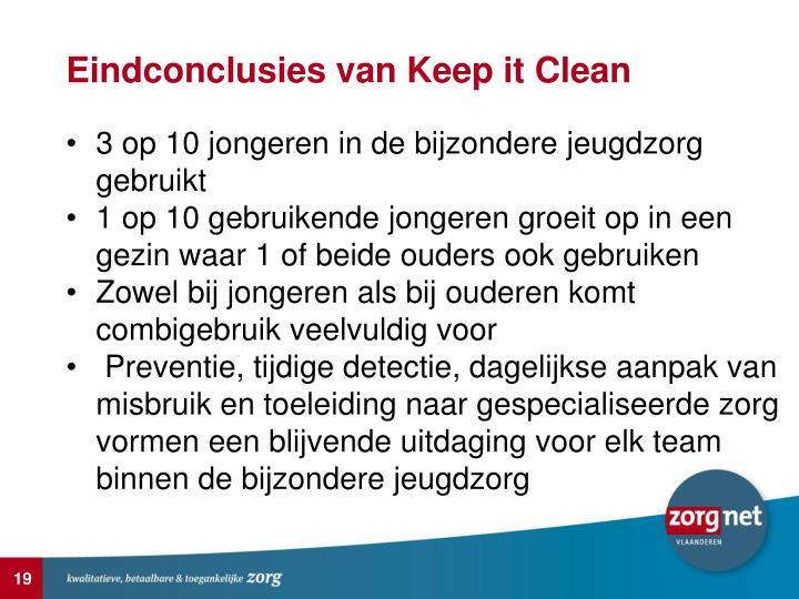 Eindconclusies van Keep it Clean