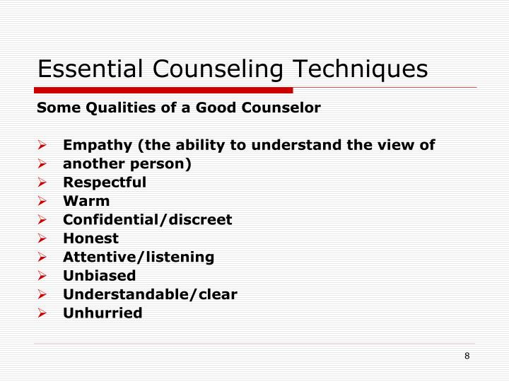 Essential Counseling Techniques