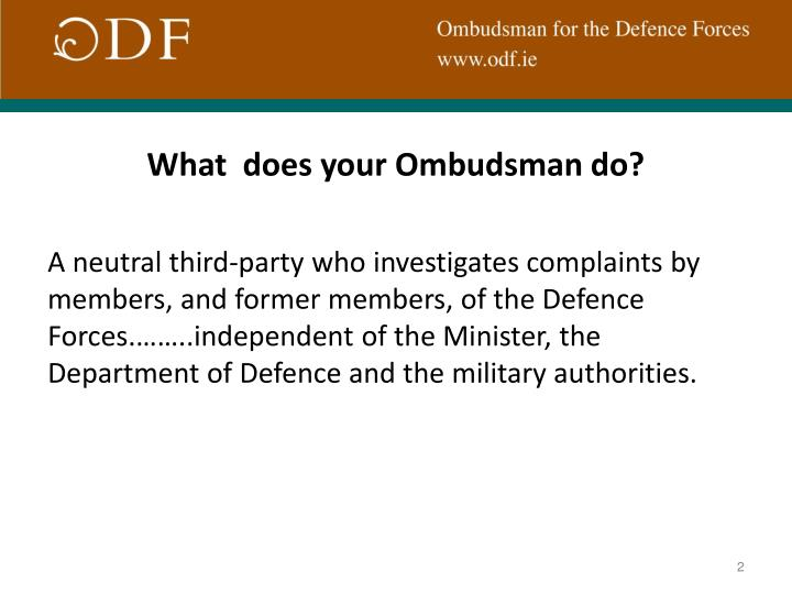 What  does your Ombudsman do?