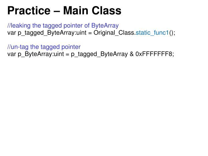 Practice – Main Class