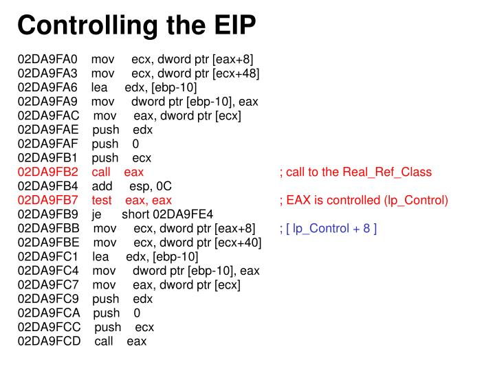 Controlling the EIP