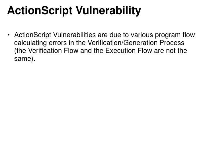ActionScript Vulnerability