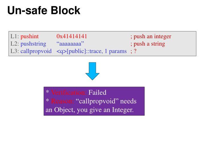 Un-safe Block