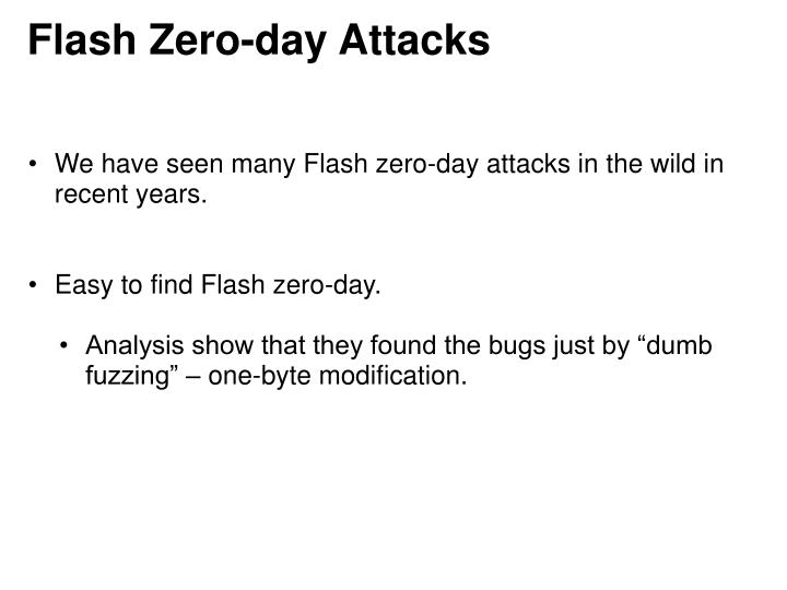 Flash Zero-day Attacks