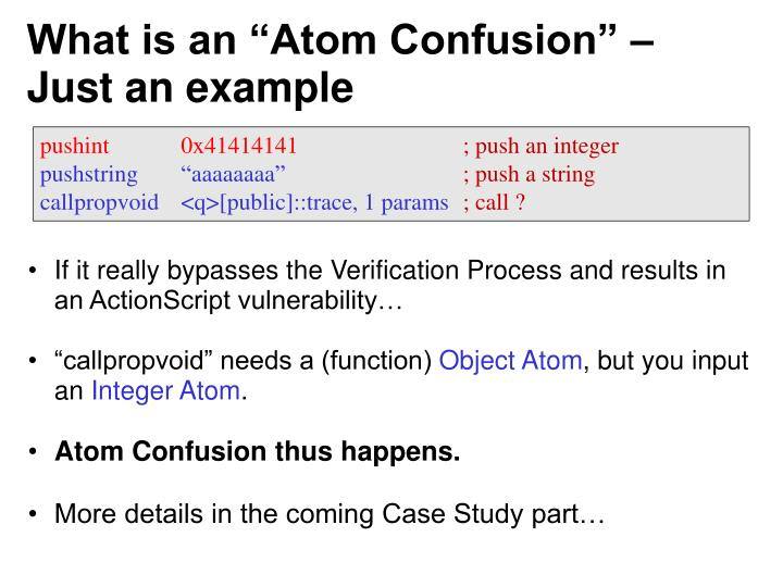 """What is an """"Atom Confusion"""" – Just an example"""