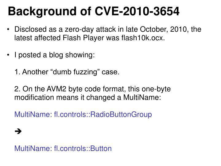 Background of CVE-2010-3654