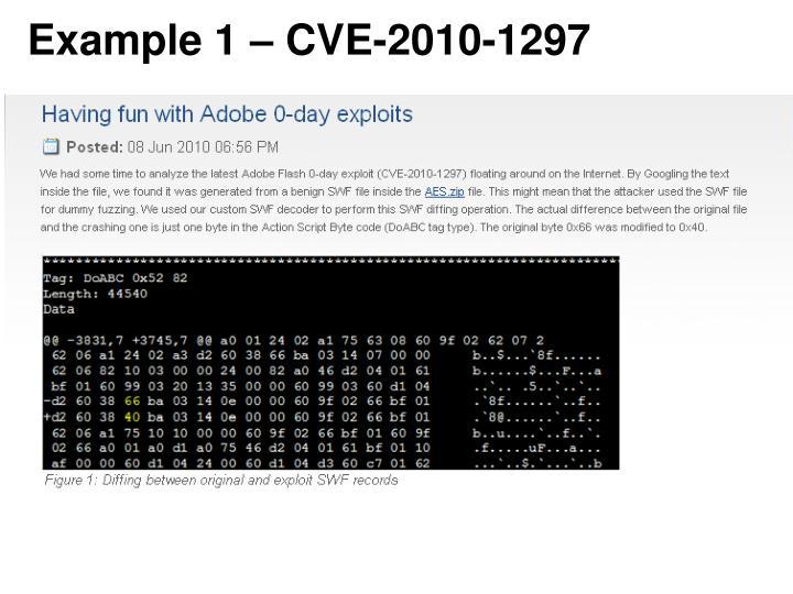 Example 1 – CVE-2010-1297