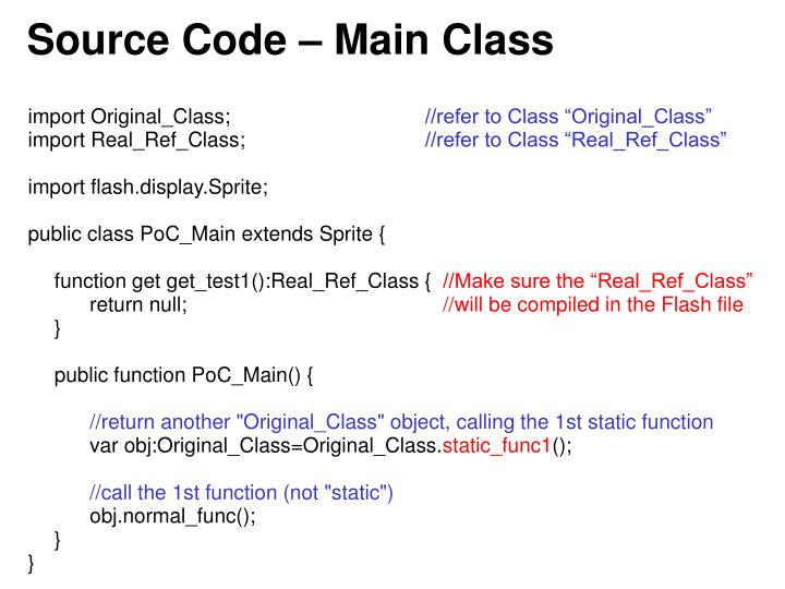 Source Code – Main Class