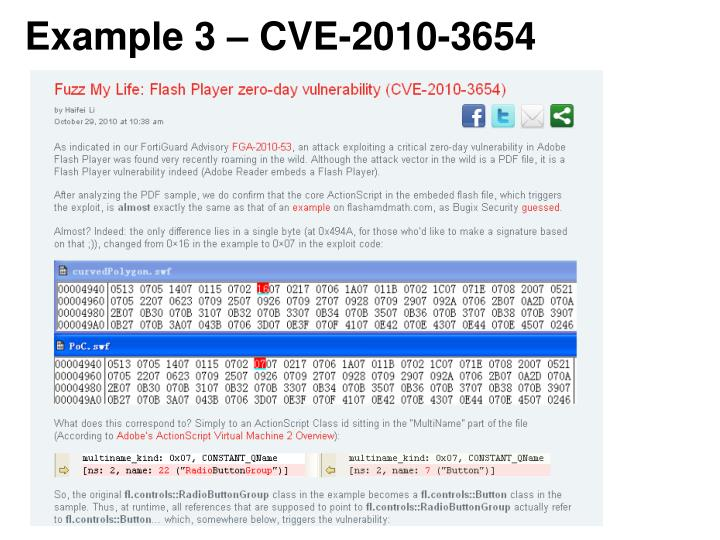 Example 3 – CVE-2010-3654