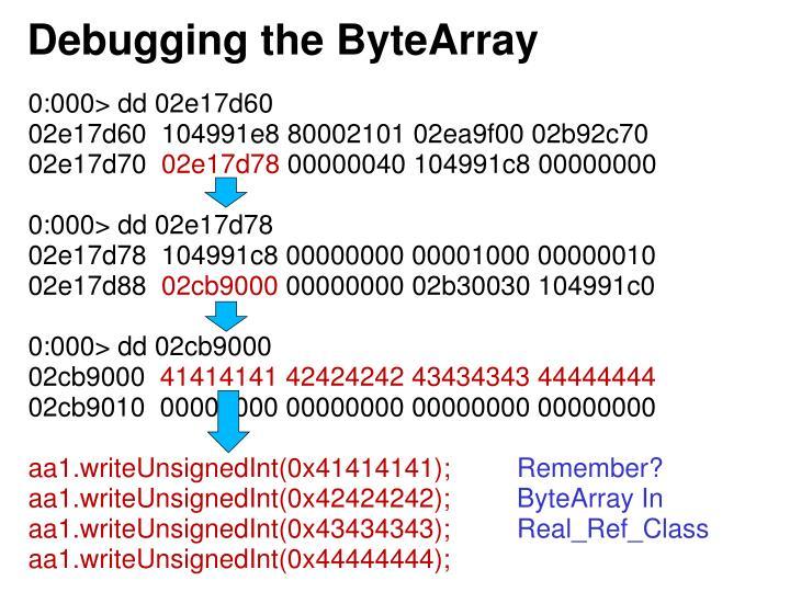 Debugging the ByteArray