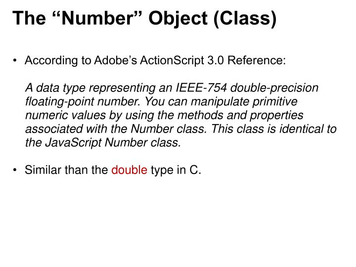 """The """"Number"""" Object (Class)"""