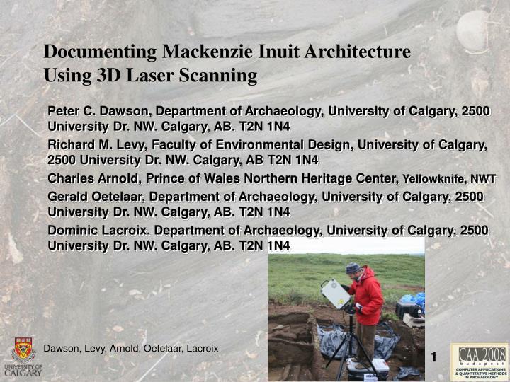 Documenting Mackenzie Inuit Architecture