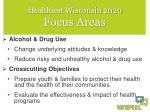 healthiest wisconsin 2020 focus areas