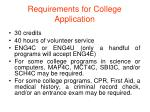 requirements for college application