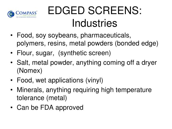 EDGED SCREENS: