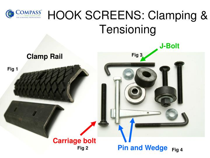 HOOK SCREENS: Clamping & Tensioning