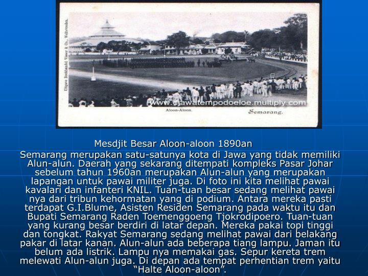 Mesdjit Besar Aloon-aloon 1890an