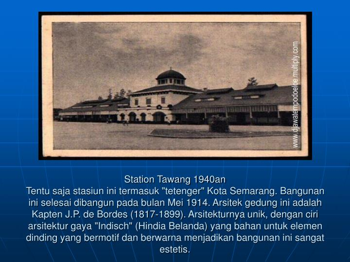 Station Tawang 1940an