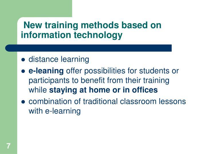 New training methods based on information technology