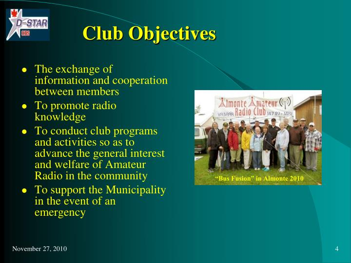 Club Objectives