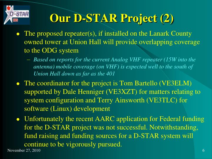 Our D-STAR Project (2)