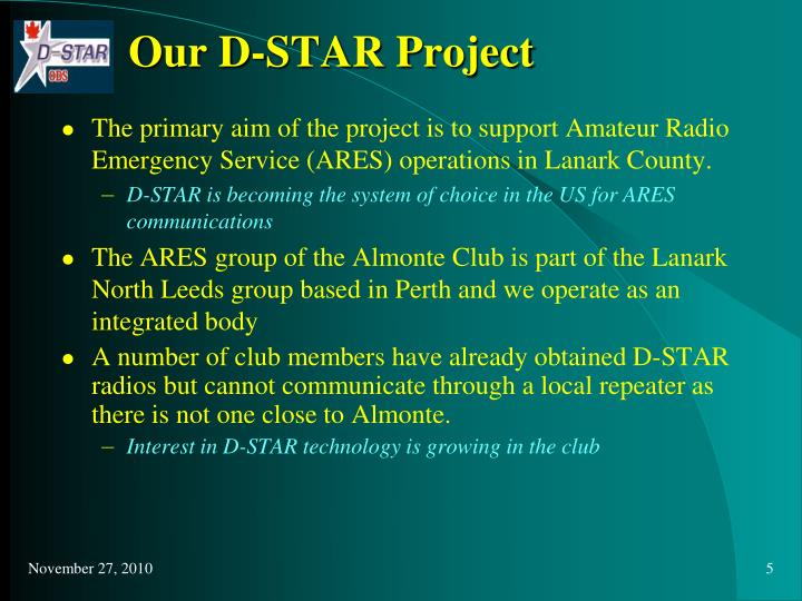 Our D-STAR Project