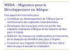 mida migration pour le d veloppement en afrique