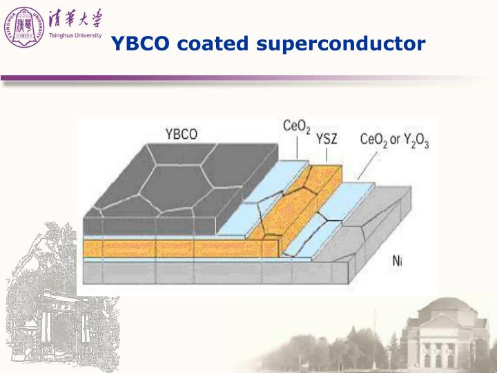 YBCO coated superconductor