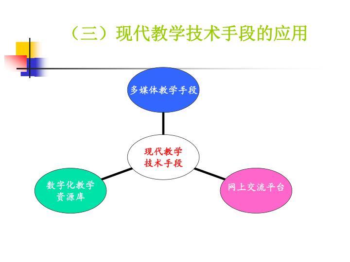(三)现代教学技术手段的应用