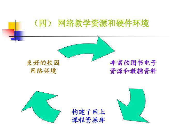 (四) 网络教学资源和硬件环境
