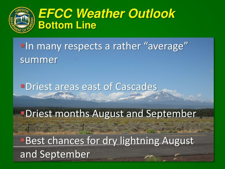EFCC Weather Outlook