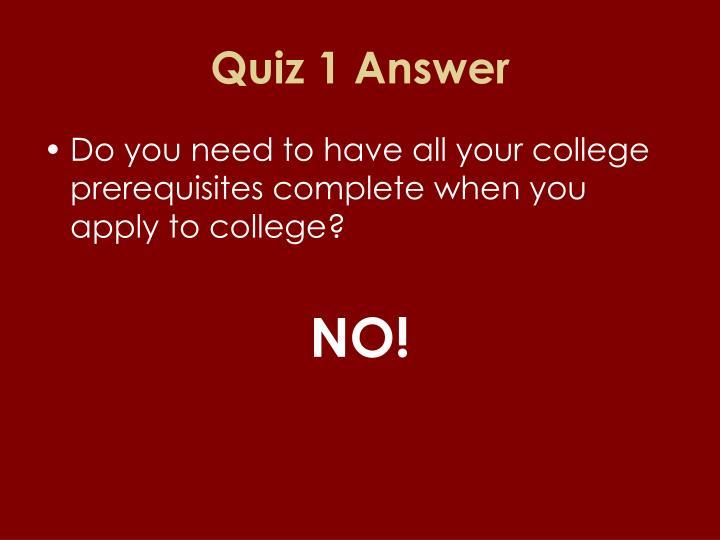 Quiz 1 Answer