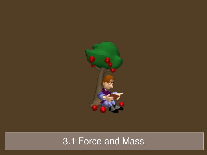 3.1 Force and Mass