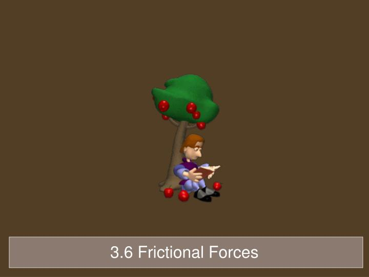 3.6 Frictional Forces