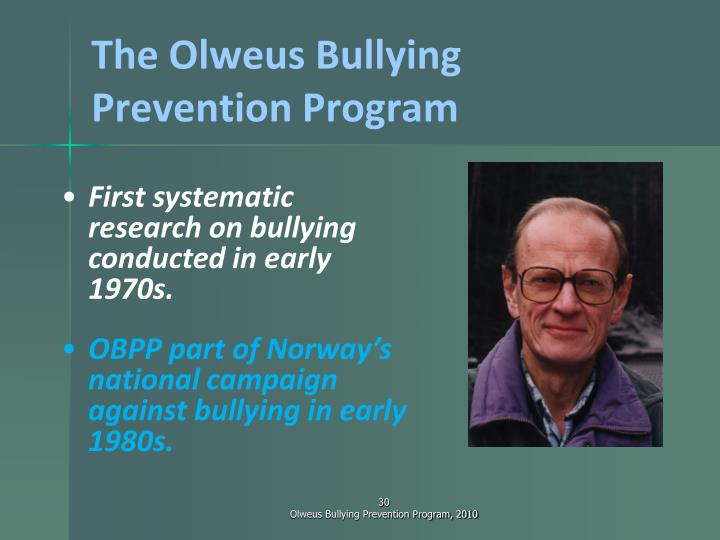 The Olweus Bullying