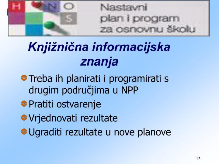 Knjižnična informacijska znanja
