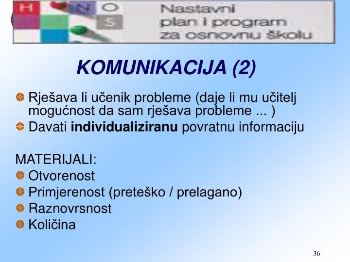 KOMUNIKACIJA (2)