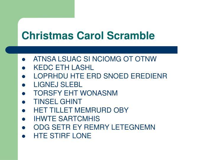 Christmas Carol Scramble