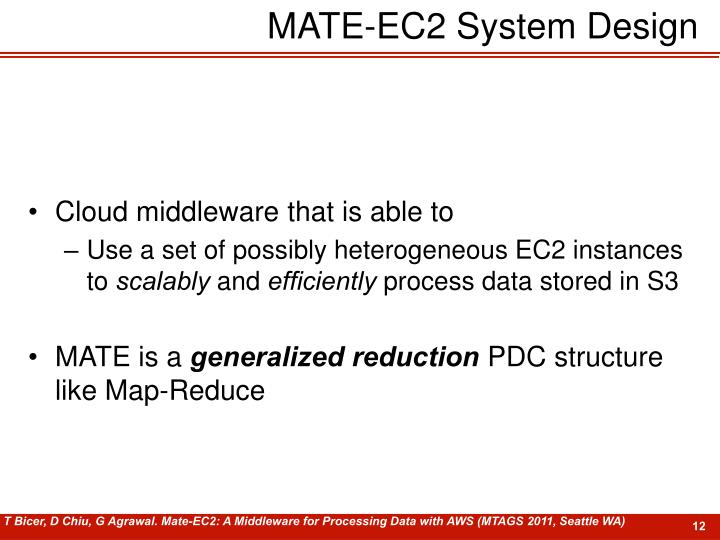 MATE-EC2 System Design